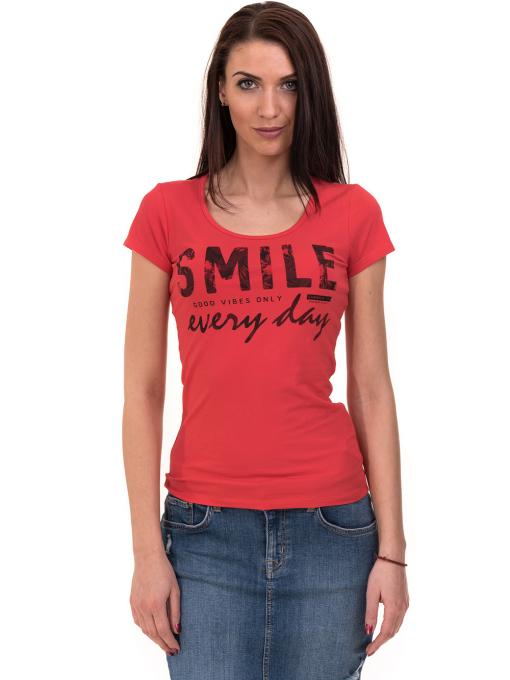 Дамска блуза с надпис VIGOSS 11191 - червена