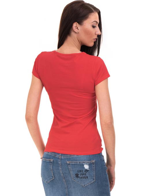 Дамска блуза с надпис VIGOSS 11191 - червена B