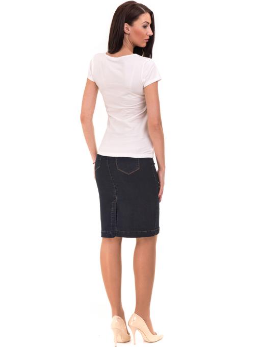 Дамска блуза с надпис VIGOSS 11191 - бяла E