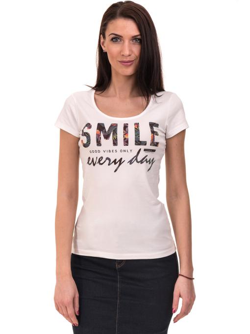 Дамска блуза с надпис VIGOSS 11191 - бяла