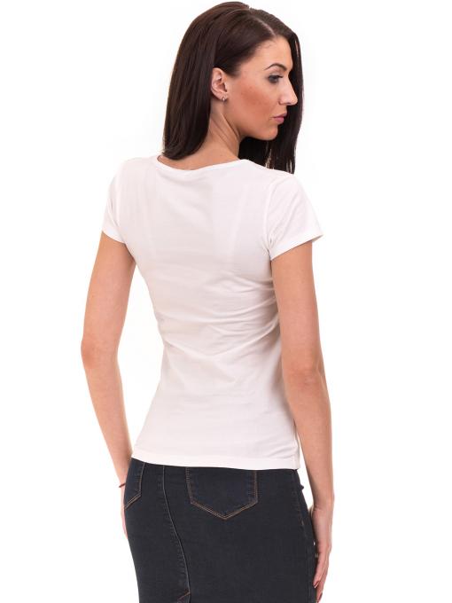Дамска блуза с надпис VIGOSS 11191 - бяла B