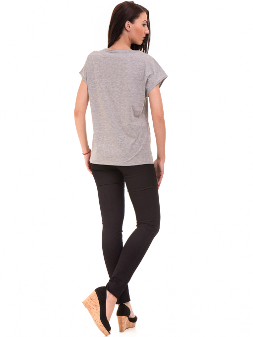 Дамска спортна блуза VIGOSS 11194 - светло сива E