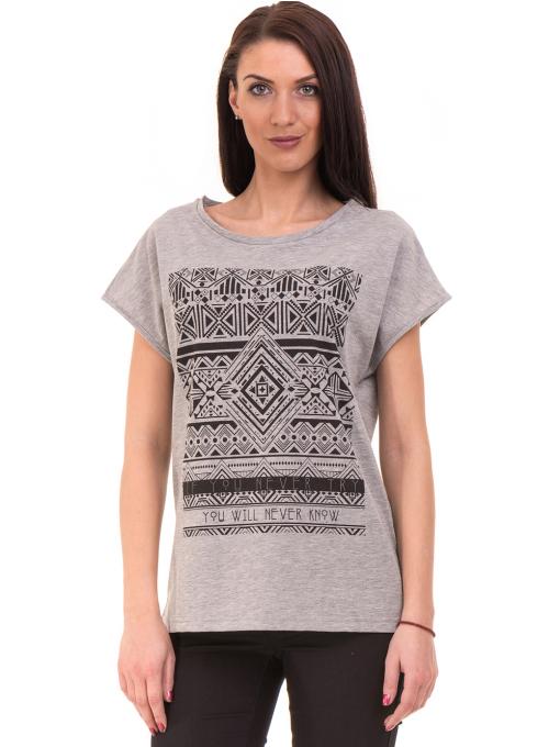 Дамска спортна блуза VIGOSS 11194 - светло сива