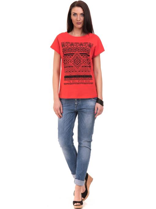 Дамска спортна блуза VIGOSS 11194 - червена C