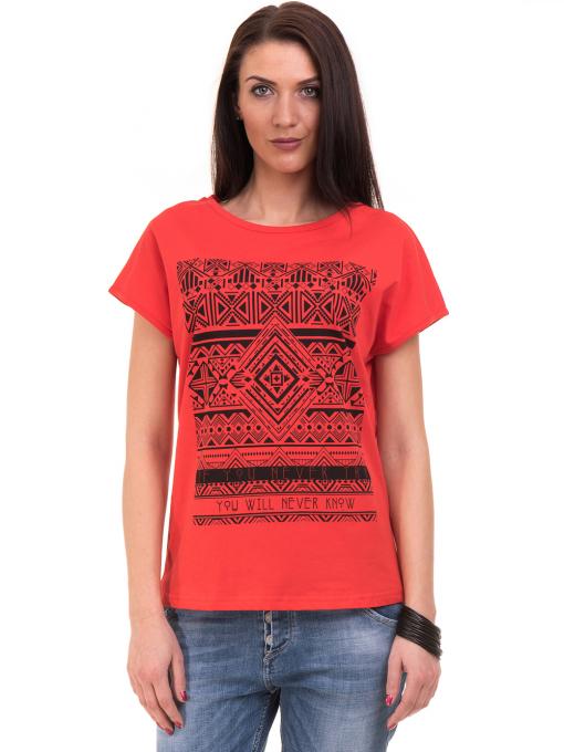 Дамска спортна блуза VIGOSS 11194 - червена