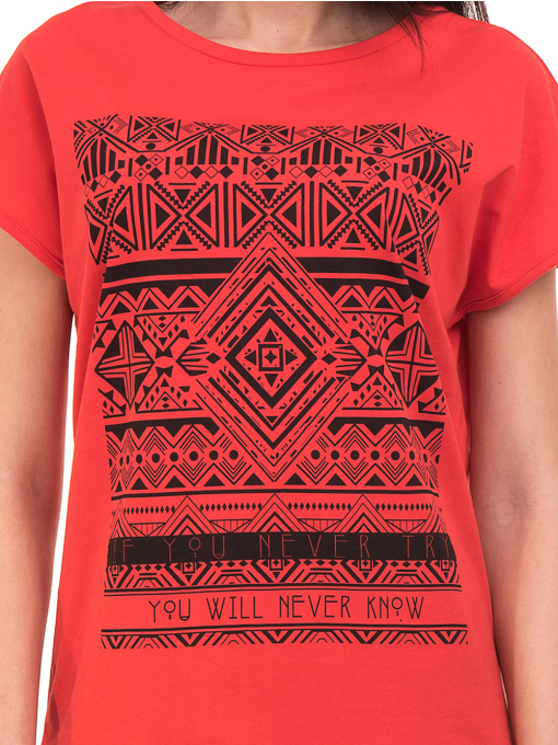 Дамска спортна блуза VIGOSS 11194 - червена D