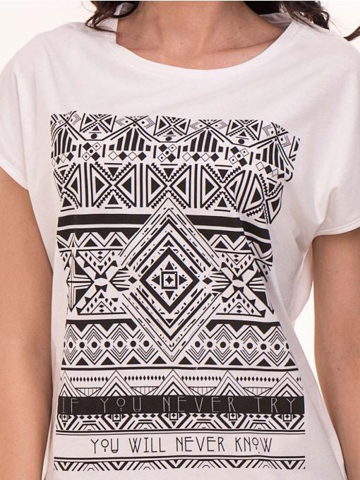 Дамска спортна блуза VIGOSS 11194 - бяла D