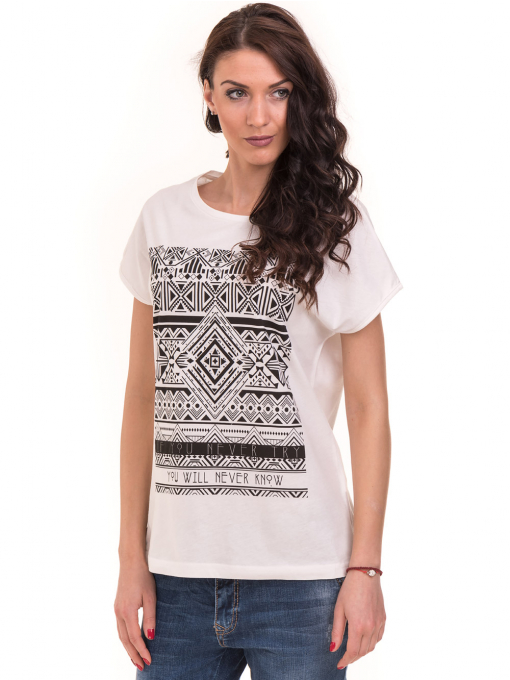 Дамска спортна блуза VIGOSS 11194 - бяла
