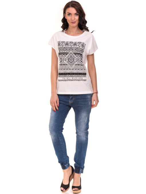 Дамска спортна блуза VIGOSS 11194 - бяла C