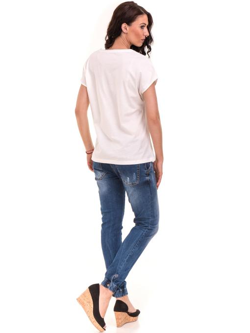 Дамска спортна блуза VIGOSS 11194 - бяла E