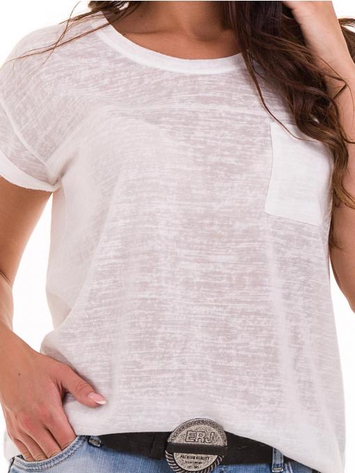 Дамска блуза свободен модел XINT 028 - цвят екрю D