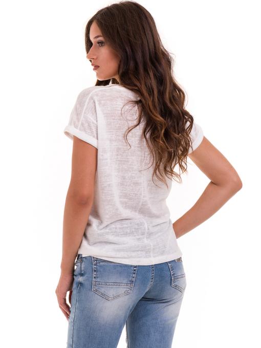 Дамска блуза свободен модел XINT 028 - цвят екрю B