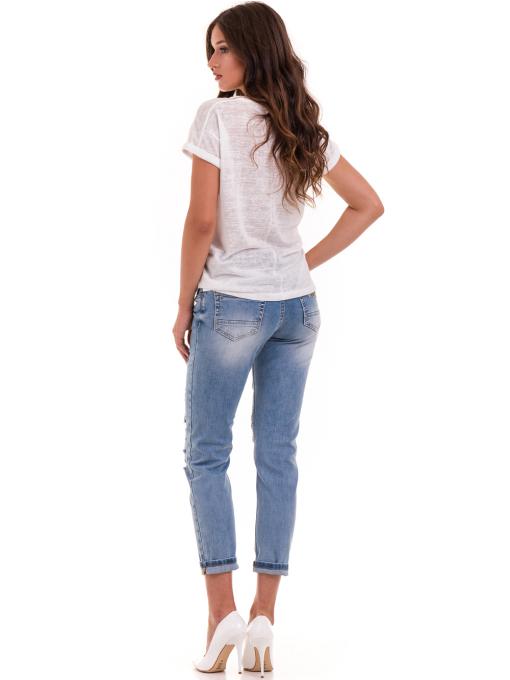 Дамска блуза свободен модел XINT 028 - цвят екрю E