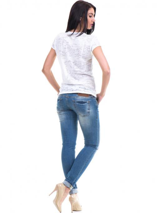 Дамска блуза с щампа XINT 036 - цвят екрю E