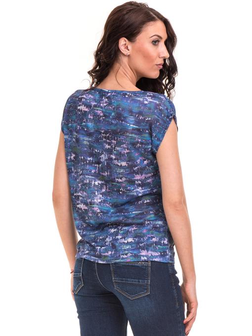 Дамска блуза с овално деколте XINT 037 - синя B