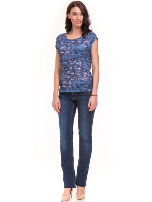 Дамска блуза с овално деколте XINT 037 - синя C