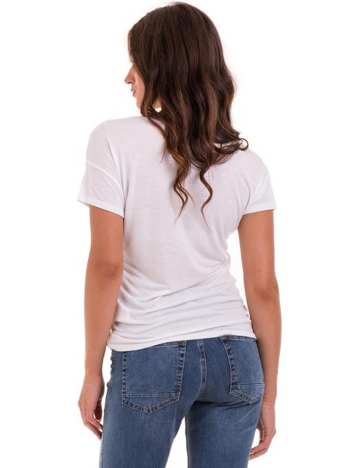 Дамска блуза с флорални мотиви XINT 044 - бяла B
