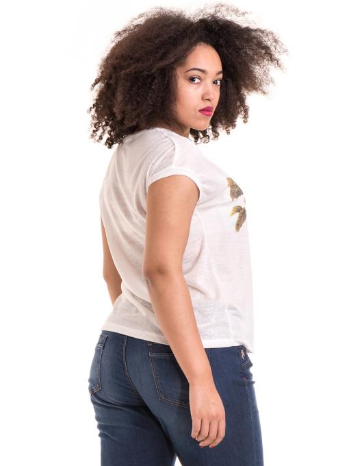 Дамска блуза с флорални мотиви XINT 057 - цвят екрю B