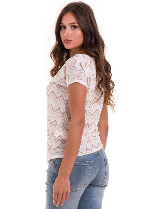 Дамска блуза с овално деколте XINT 165 - цвят екрю B