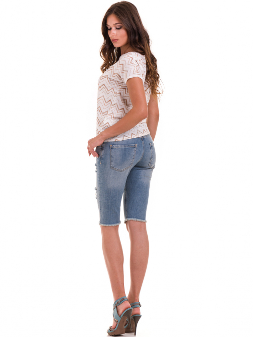Дамска блуза с овално деколте XINT 165 - цвят екрю E