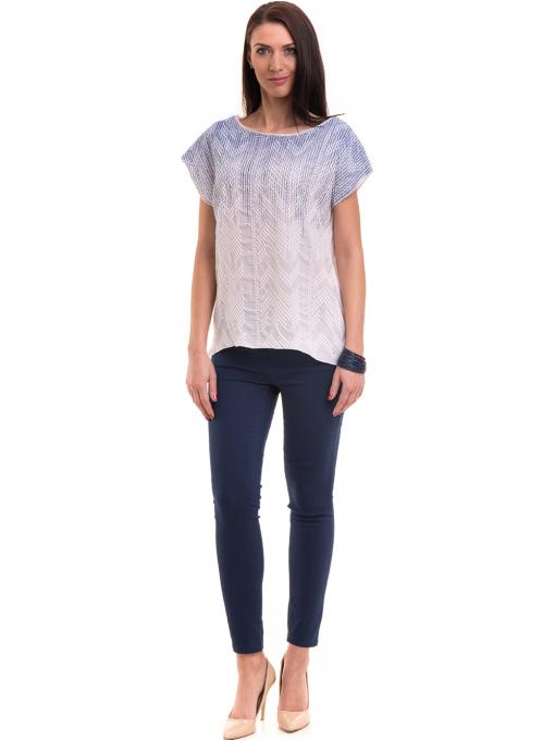 Дамска блуза свободен модел XINT 172 - бяла C