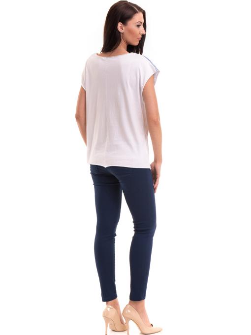 Дамска блуза свободен модел XINT 172 - бяла E