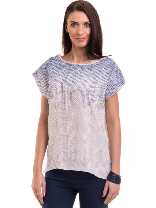 Дамска блуза свободен модел XINT 172 - бяла