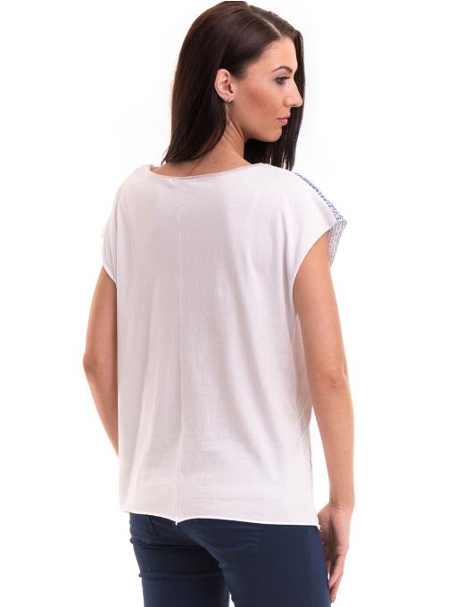 Дамска блуза свободен модел XINT 172 - бяла B