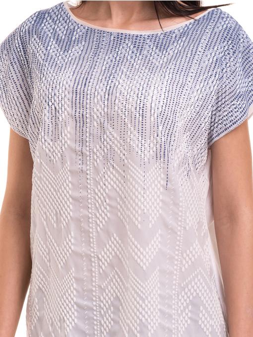 Дамска блуза свободен модел XINT 172 - бяла D