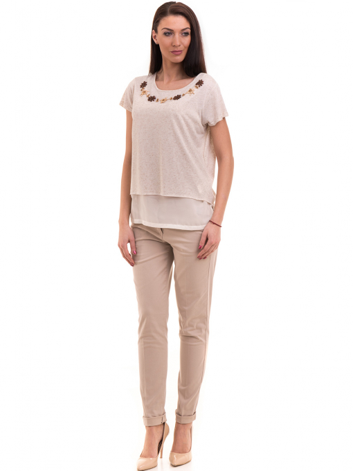 Дамски панталон KOTON 42193 - светло бежов C1