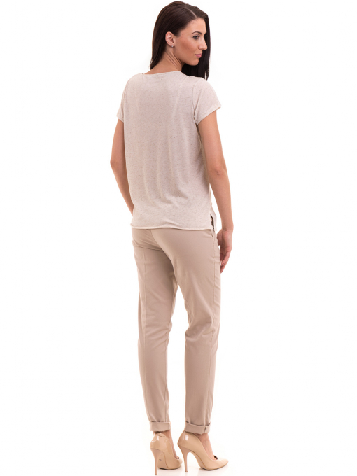 Дамска спортно-елегантна блуза XINT 181 - светло бежова E