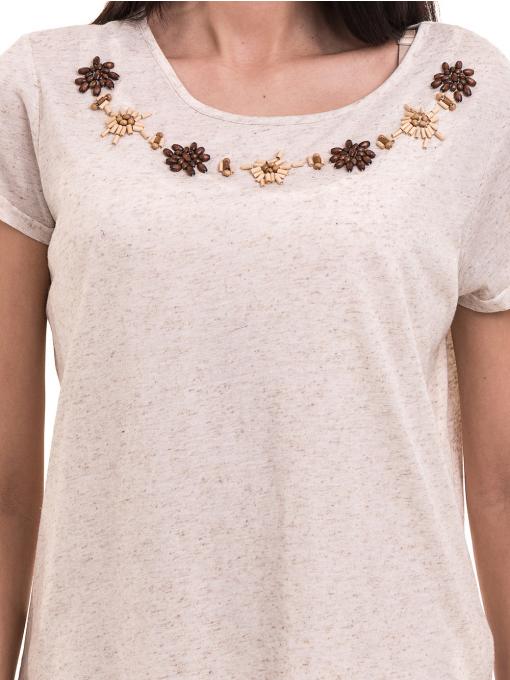 Дамска спортно-елегантна блуза XINT 181 - светло бежова D