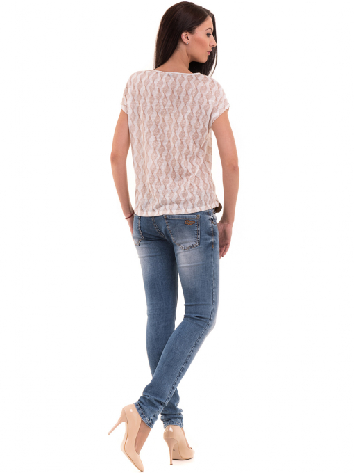 Дамска спортно-елегантна блуза XINT 186 - светло бежова E