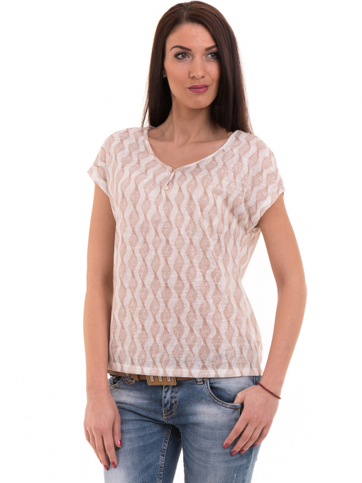 Дамска спортно-елегантна блуза XINT 186 - светло бежова