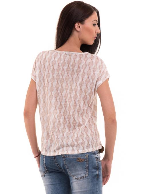 Дамска спортно-елегантна блуза XINT 186 - светло бежова B