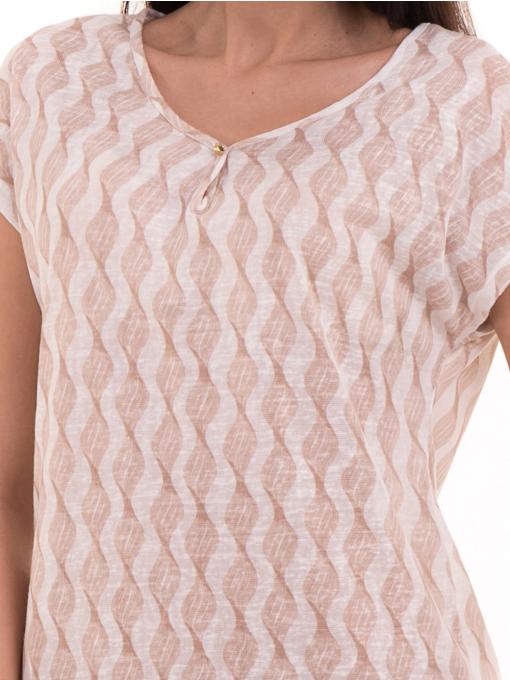 Дамска спортно-елегантна блуза XINT 186 - светло бежова D