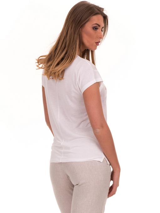 Дамска блуза с обло деколте XINT 190 - цвят екрю B