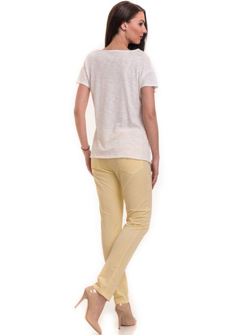 Дамска блуза свободен модел XINT 198 - цвят екрю E2