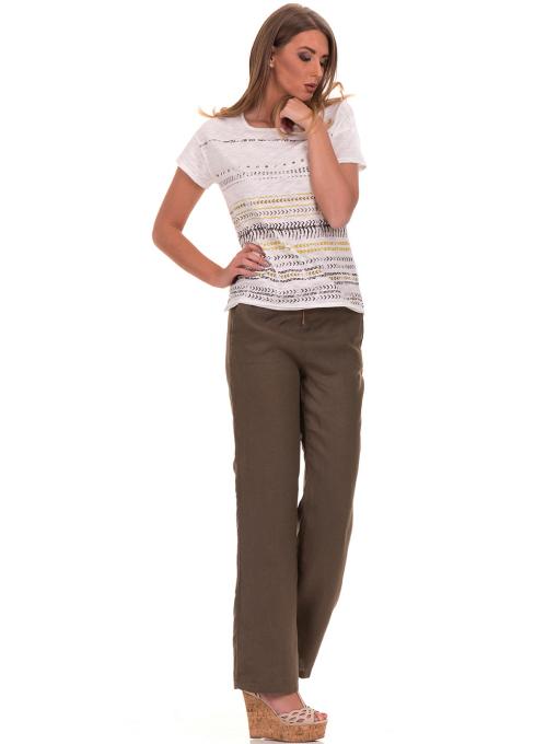 Дамска блуза свободен модел XINT 198 - цвят екрю C