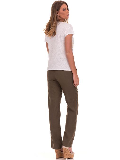 Дамска блуза свободен модел XINT 198 - цвят екрю E