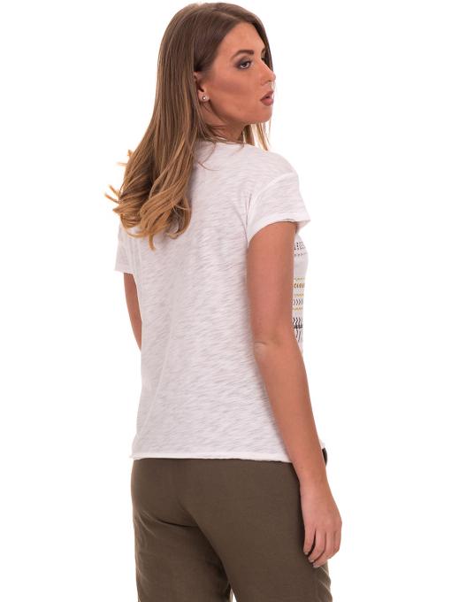 Дамска блуза свободен модел XINT 198 - цвят екрю B