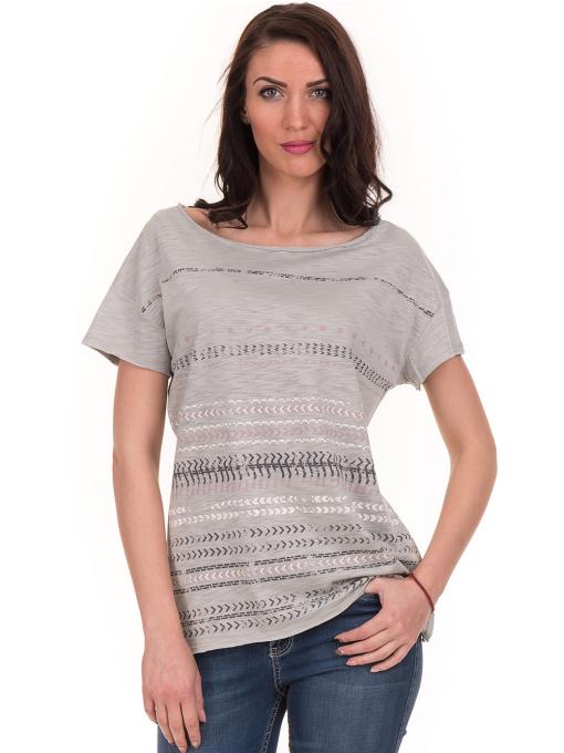 Дамска блуза свободен модел XINT 198 - цвят резеда