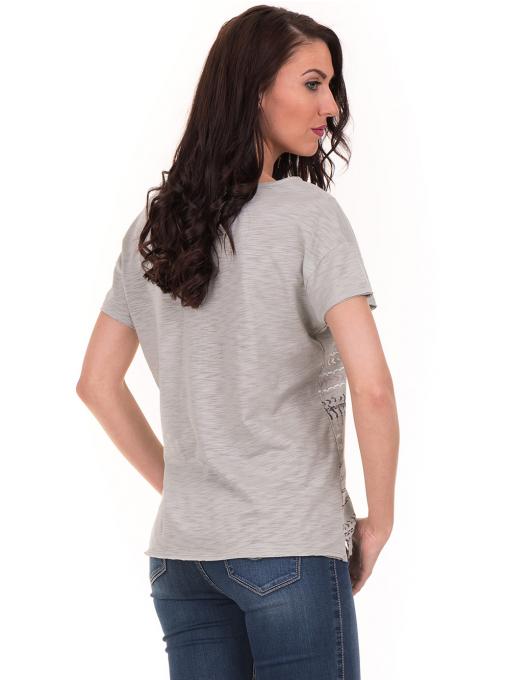 Дамска блуза свободен модел XINT 198 - цвят резеда B