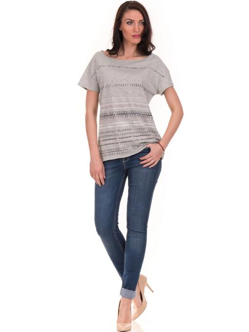 Дамска блуза свободен модел XINT 198 - цвят резеда C
