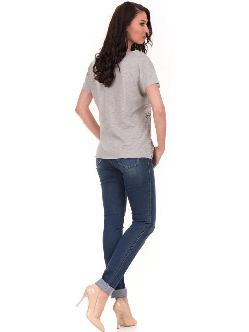 Дамска блуза свободен модел XINT 198 - цвят резеда E