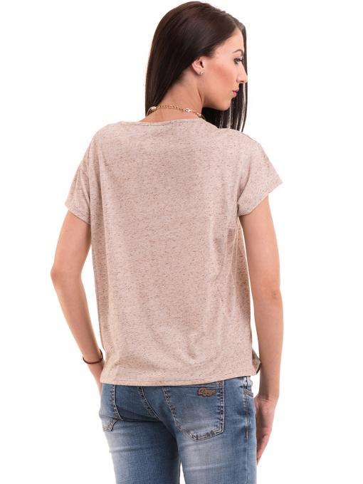 Дамска блуза свободен модел XINT 201 - светло бежово B