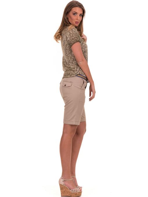 Дамска блуза с V-образно деколте XINT 224 - цвят каки E