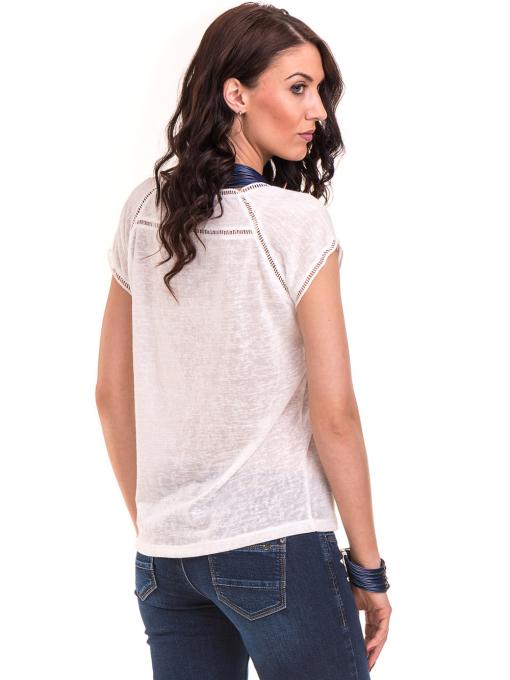 Дамска блуза с V-образно деколте XINT 225 - бяла B