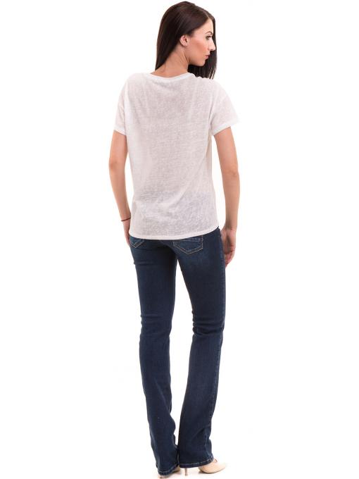 Дамска блуза с щампа XINT 235 - бяла E