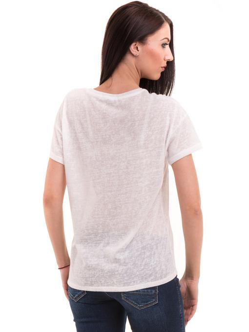 Дамска блуза с щампа XINT 235 - бяла B